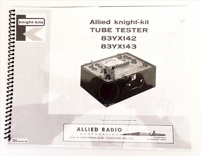 Allied Knight 83YX42 & 83YX43 Tube Tester