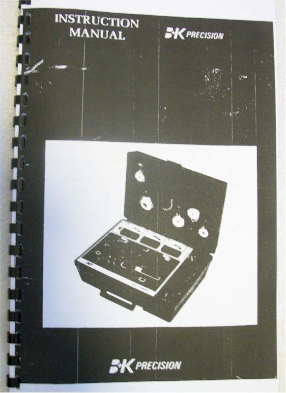 B&K 467 CRT Restorer/Analyzer Instruction Manual
