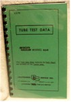 Eico 625 Tube Test Data