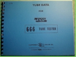 Eico Tube Data for 666 Tube Tester