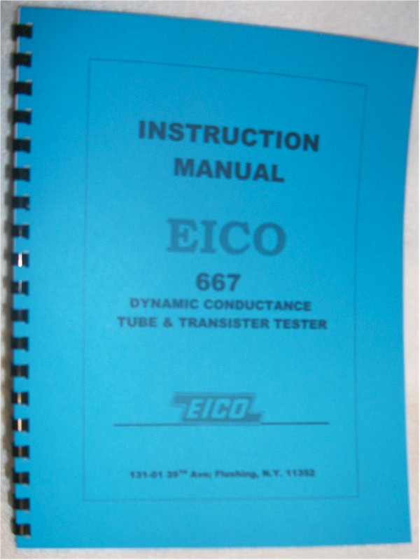 Manual: Eico 667 Tube Tester Manual