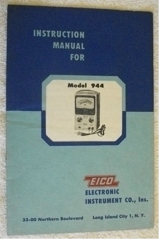 Eico 944 Instruction Manual