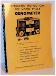 Superior Genometer TV-50-A Operating and Service Manual