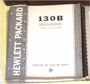 Hewlett-Packard 130B, 130BR Oscilloscope Instruction Manuals