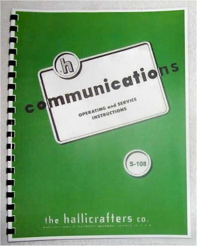 Hallicrafters S-108 Manual