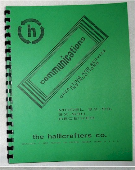Hallicrafters SX-99 Manual