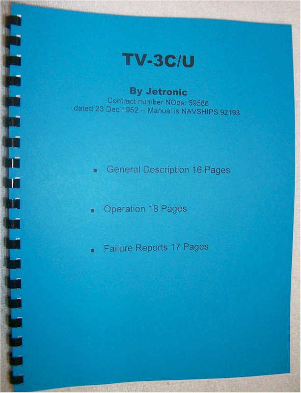 Manual: Jetronic TV-3C/U Tube Tester Manual
