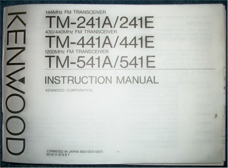 kenwood tm 241a 241e 441a 441e 541a e instruction manual for rh radioattic com kenwood tm 241 a mods kenwood tm-241 a user manual