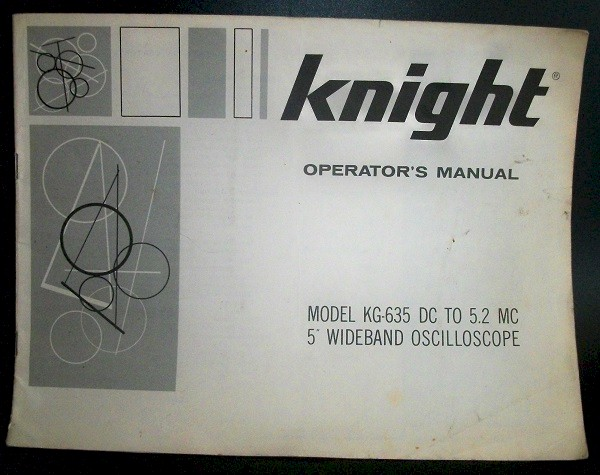 Knight KG-635 Operators Manual
