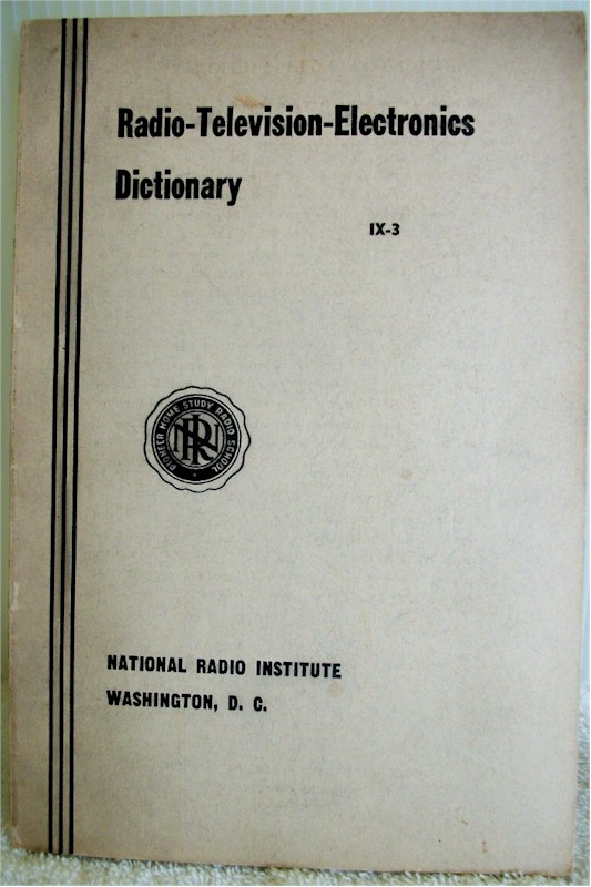 NRI Radio-Television-Electronics Dictionary