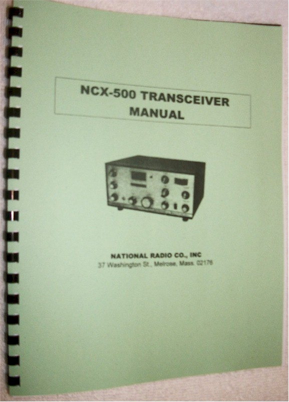 National NCX-500 Manual