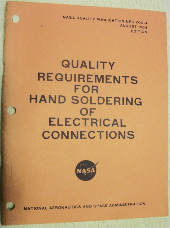 Book: Quality Requirements for Hand Soldering of Electrical Connections