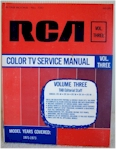 RCA Color TV Service Manual, Vol. Three