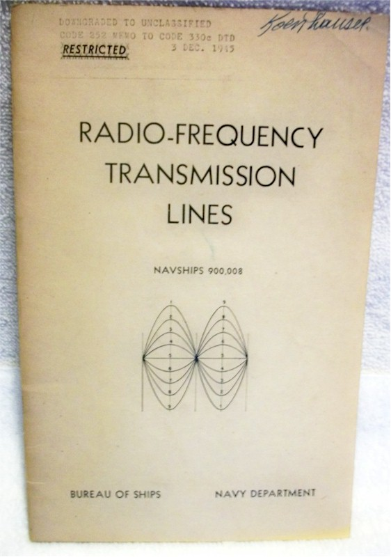 Book: Radio-Frequency Transmission Lines