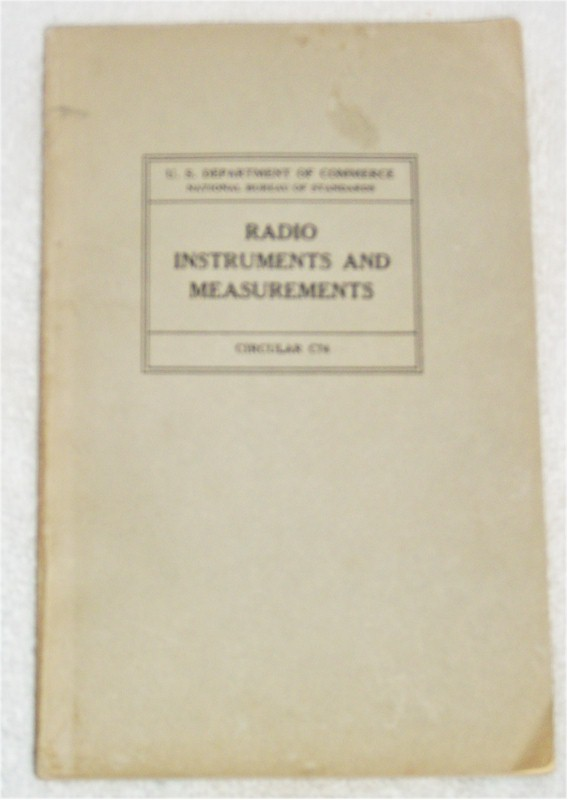 Book: Radio Instruments and Measurements