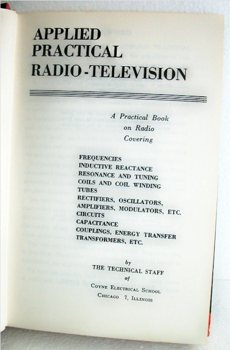 Book: Radio and Television Principles #1