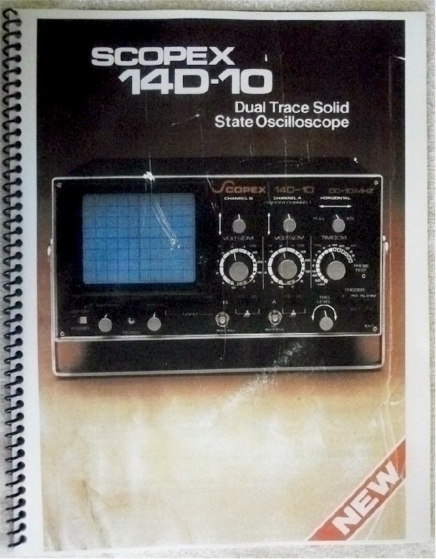 Scopex 14D-10 Oscilloscope Manual