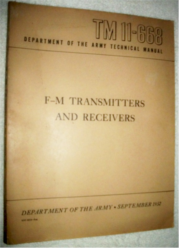F-M Transmitters and Receivers, TM 11-668