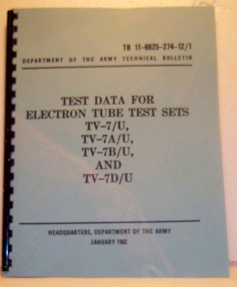 Hickok TV-7 Operating Instructions & Tube Data