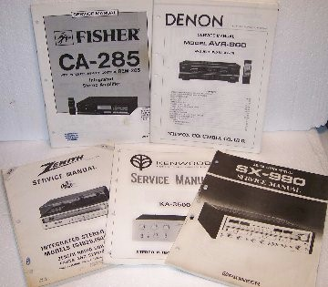 Service & Technical Manuals List