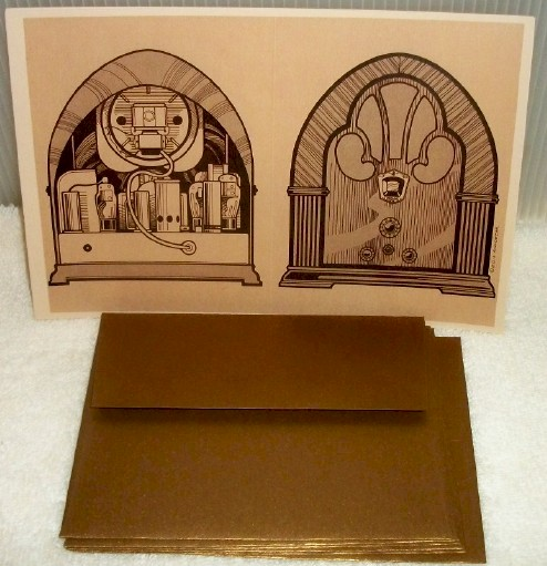 Vintage Radio Note Cards