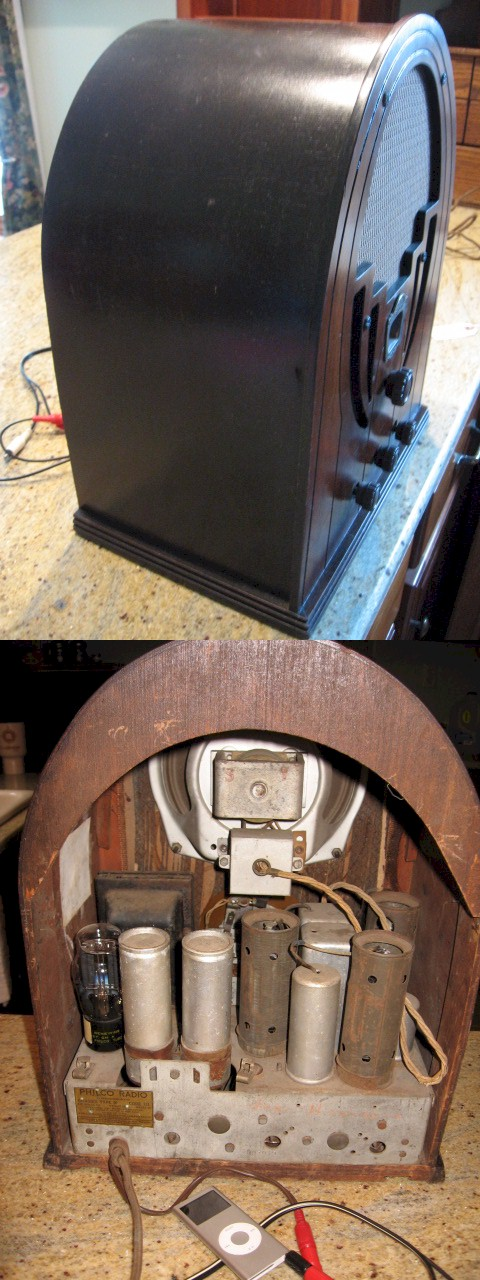 Philco 60 Cathedral (1935) with RCA Adaptor