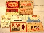 QSL Cards Set of 9