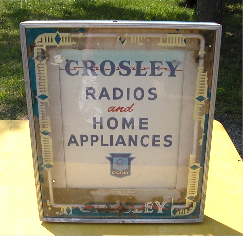 Crosley Radios and Appliances Sign
