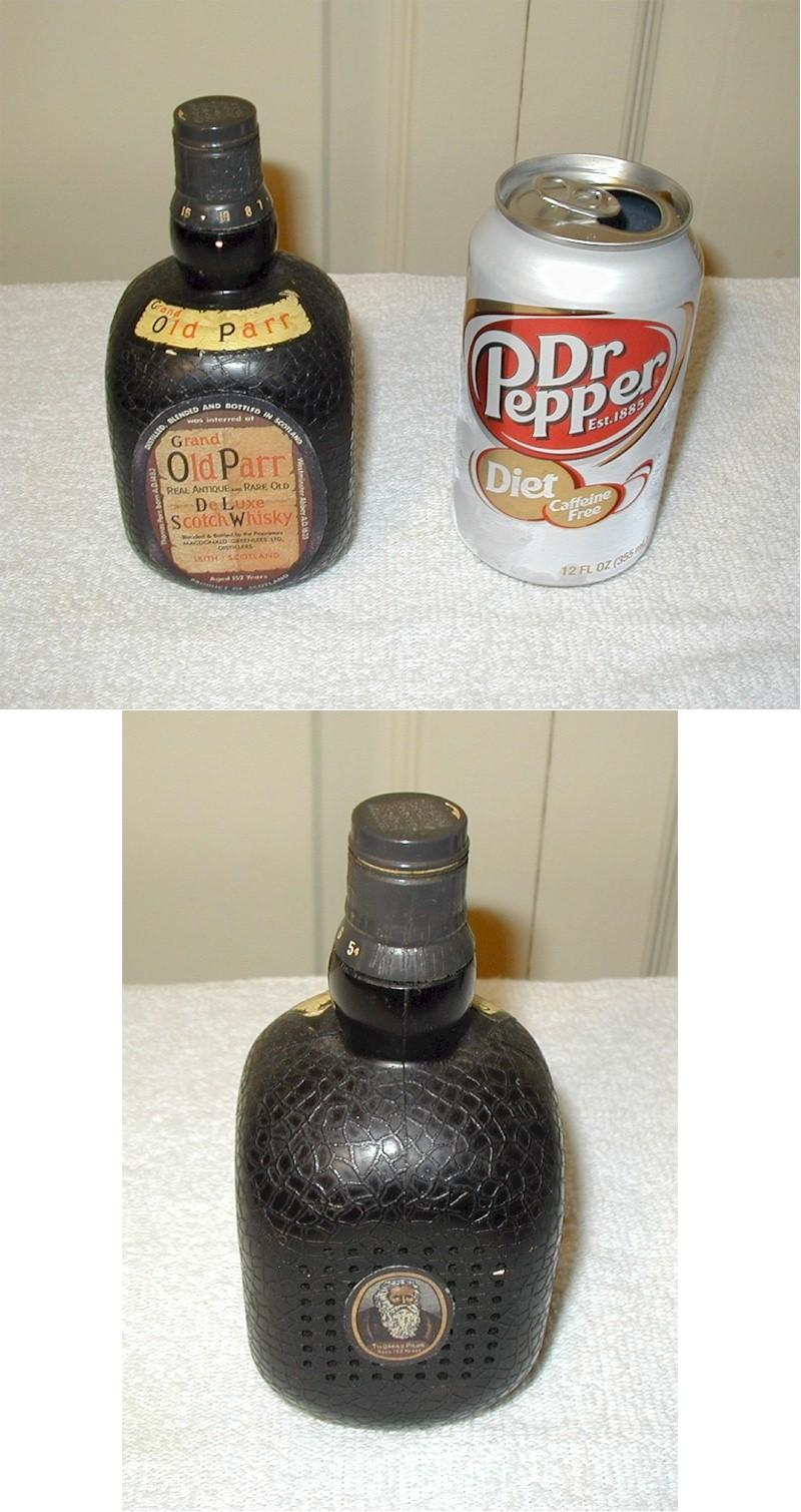 Old Parr Scotch Whisky Bottle Radio