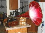 Edison Home Phonograph with Morning Glory Horn (1906)