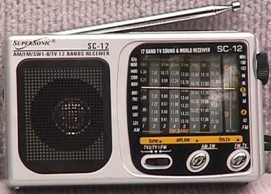 Supersonic SC-12 Short wave Radio