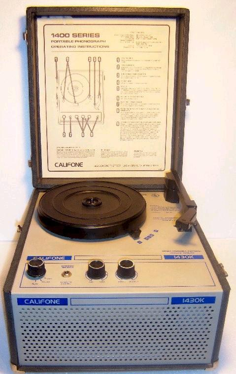 Califone 1430K School Style Four Speed Record Player