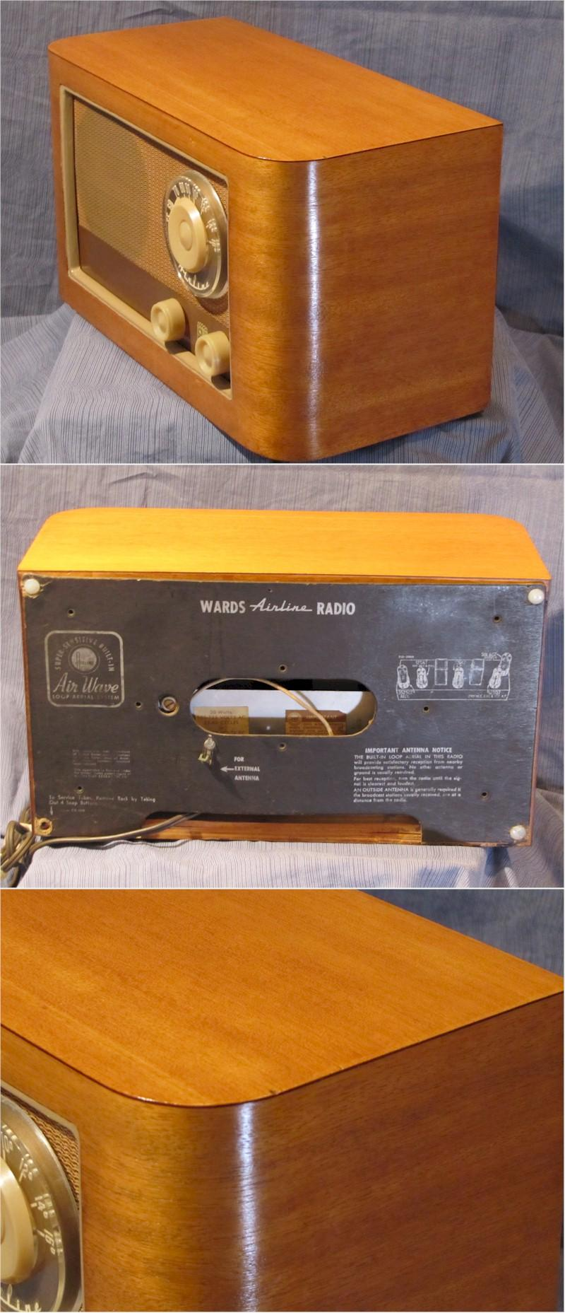 Airline Wooden Table Radio