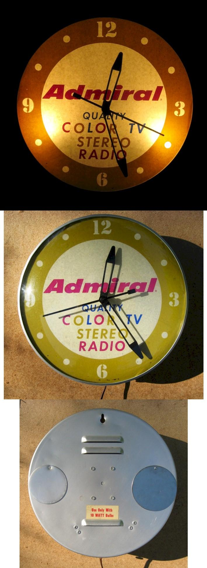 Admiral Radio-TV-Stereo Advertising Clock