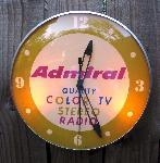 Admiral Radio-TV-Stereo Advertising Clock
