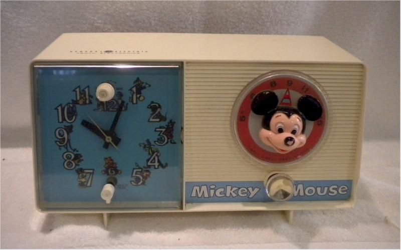 General Electric Mickey Mouse Alarm Clock Radio