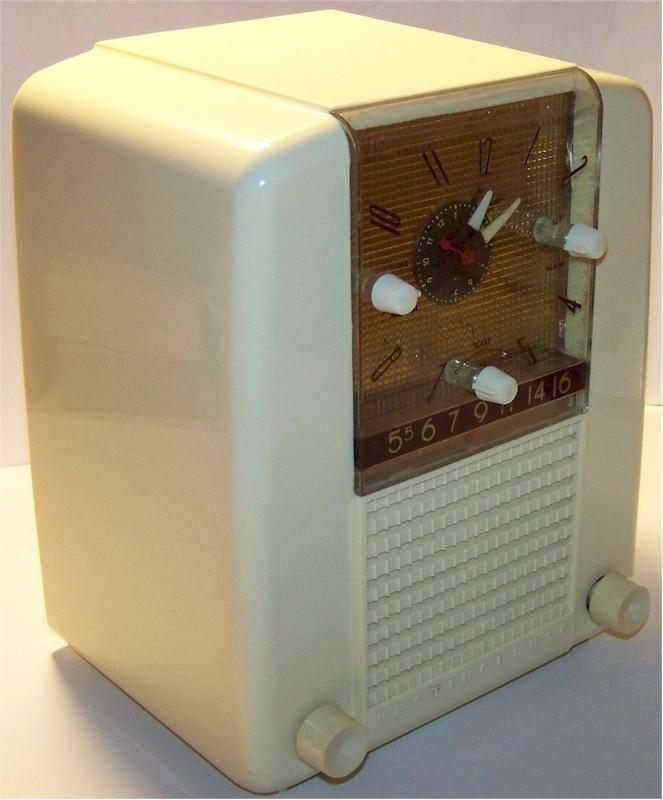 Westinghouse H-398T5 Clock/Radio (1954)