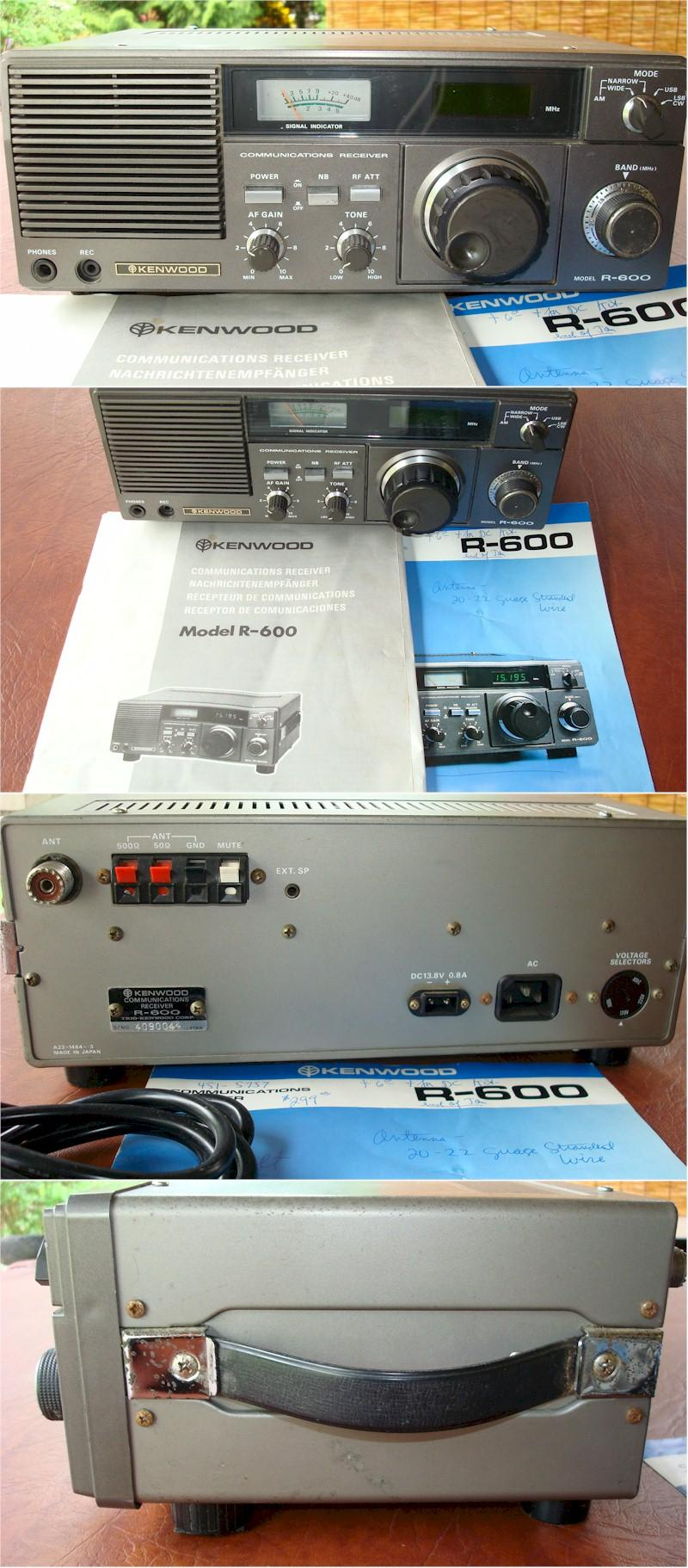 Kenwood R-600 Communications Receiver