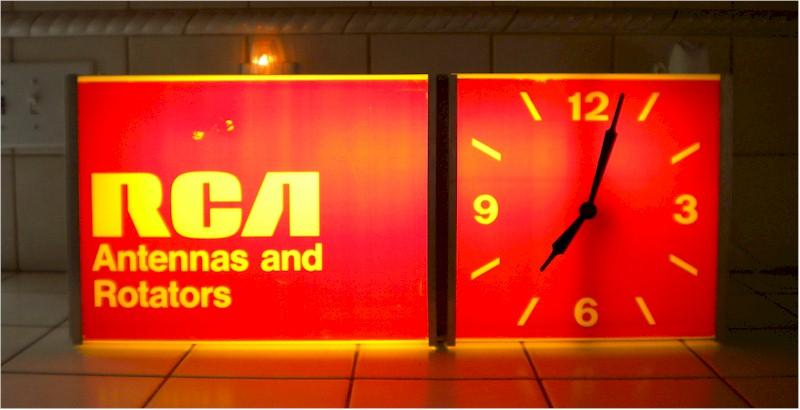 RCA Clock and Sign