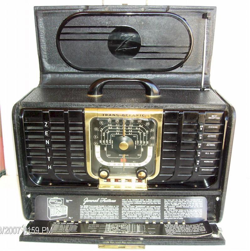 Zenith 8G005TZ1Y Trans-Oceanic (1948)
