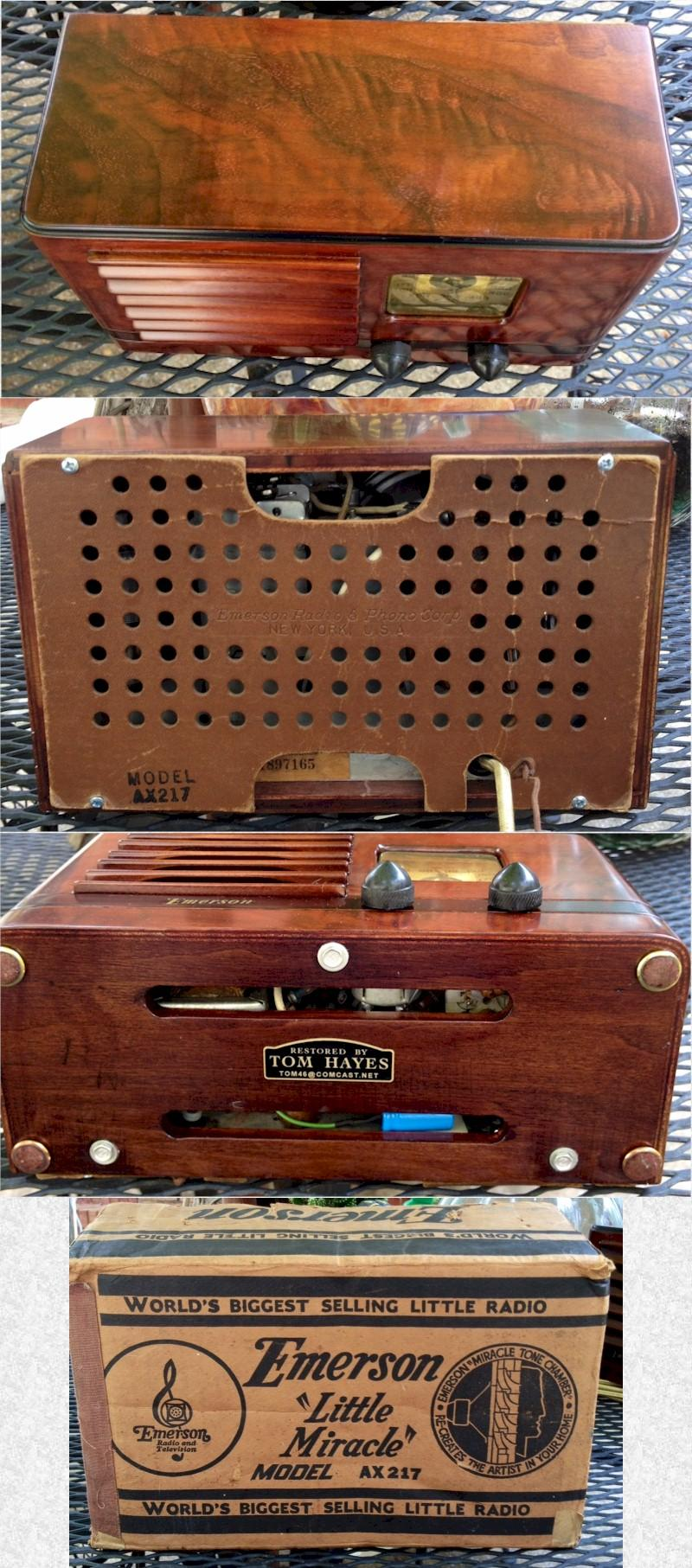 "Emerson AX217 ""Little Miracle"" w/Original Box (1938)"