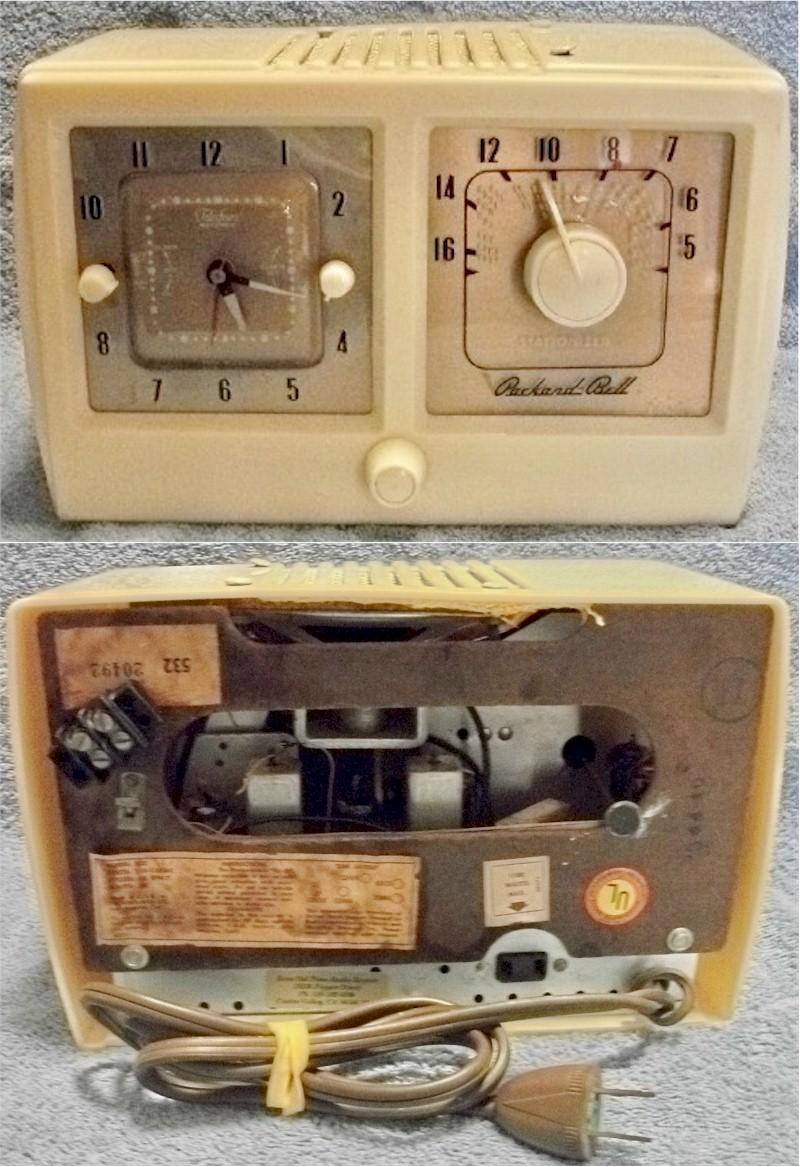 Packard-Bell 532 Clock Radio (1954)