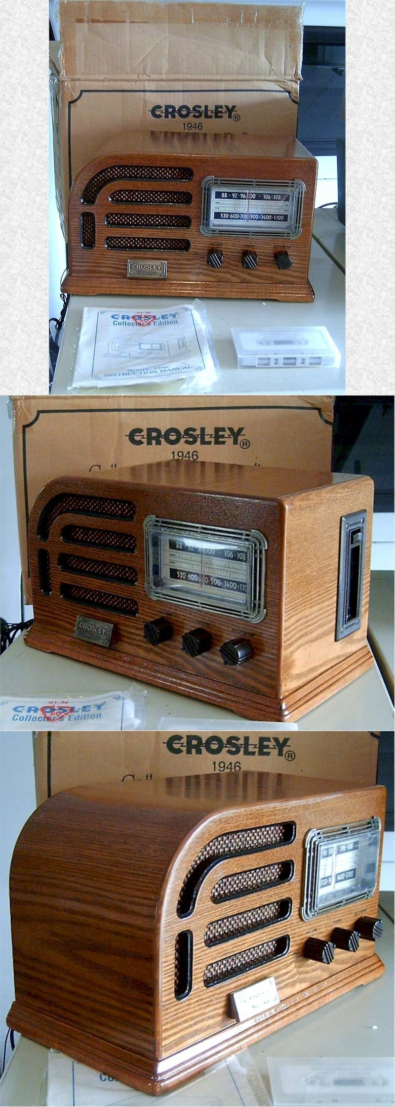 Crosley Reproduction Wooden Table Radio