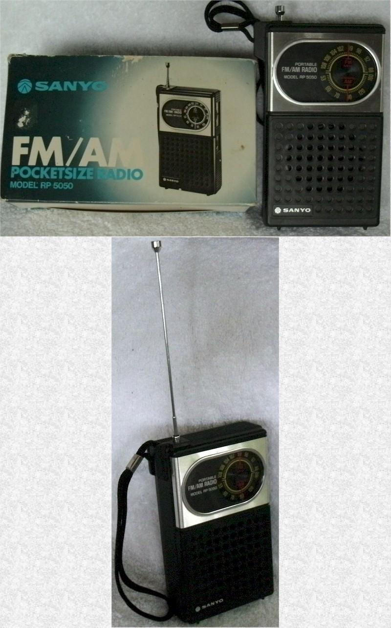Sanyo RP-5050 AM/FM Pocket Transistor (late 70s)