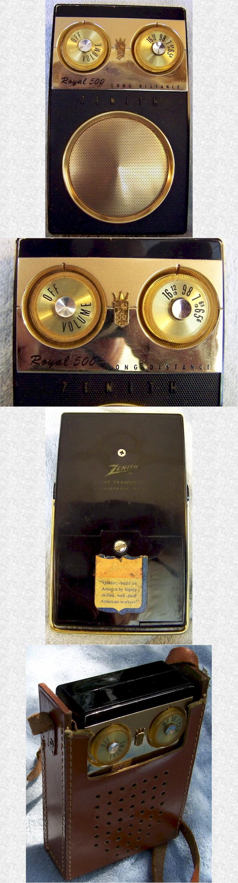 Zenith Royal 500E Pocket Transistor (1959)