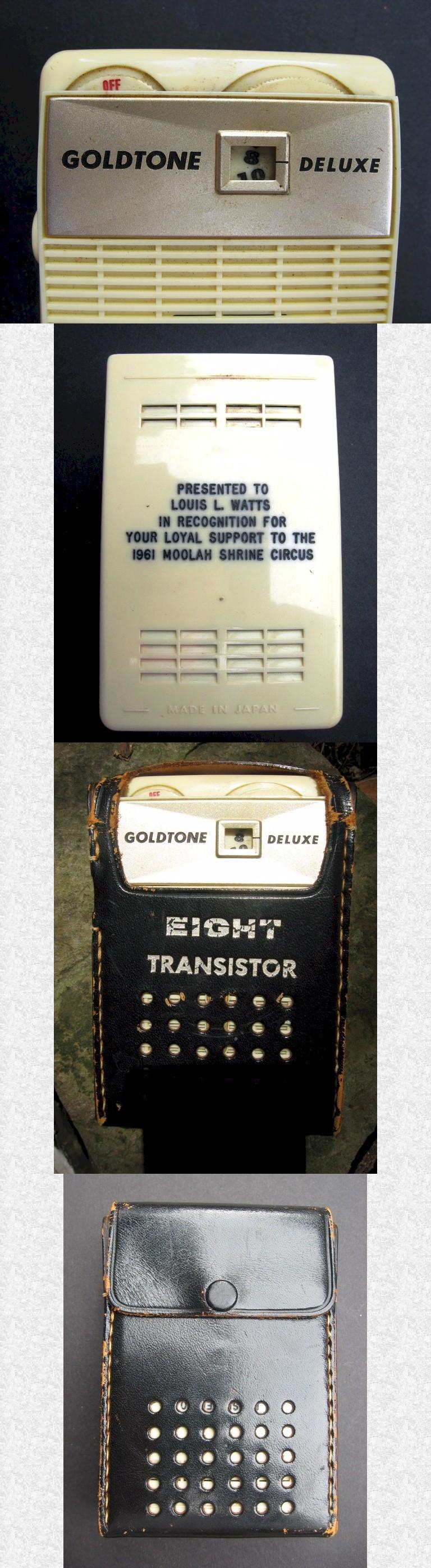Goldtone Deluxe Pocket Transistor (1960)