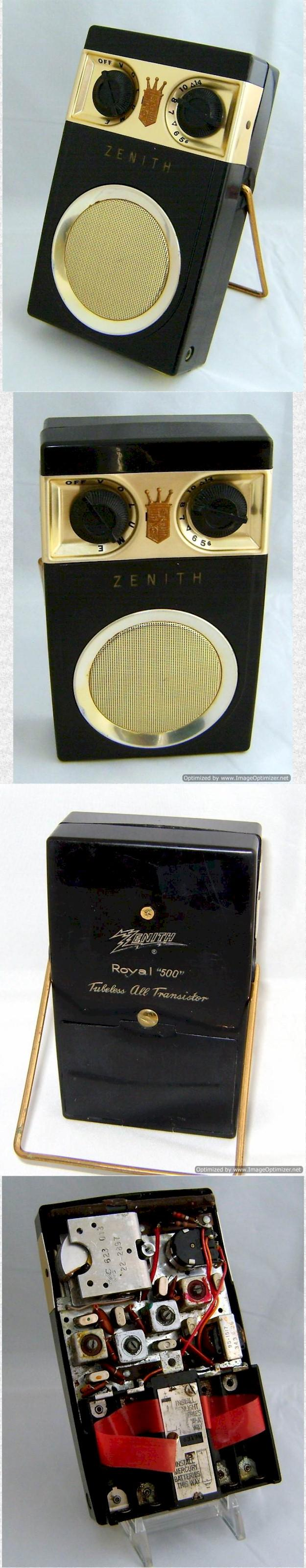 Zenith Royal 500 Hand Wired Pocket Transistor (1956)