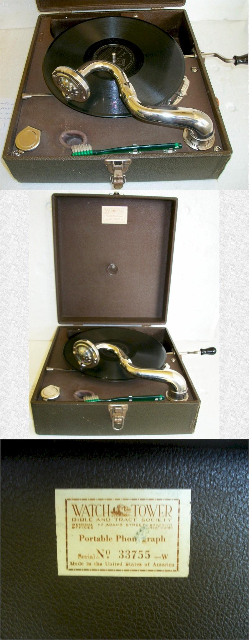 Watch Tower Portable Phonograph (1930s)