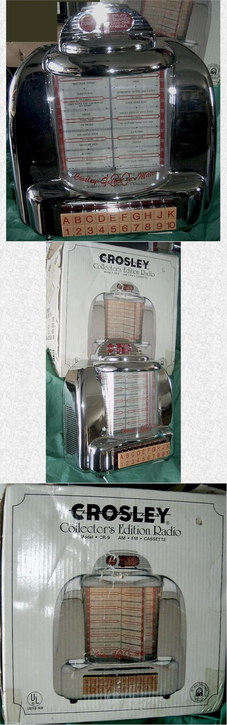 Crosley CR-9 Diner Jukebox AM/FM/Radio/Cassette