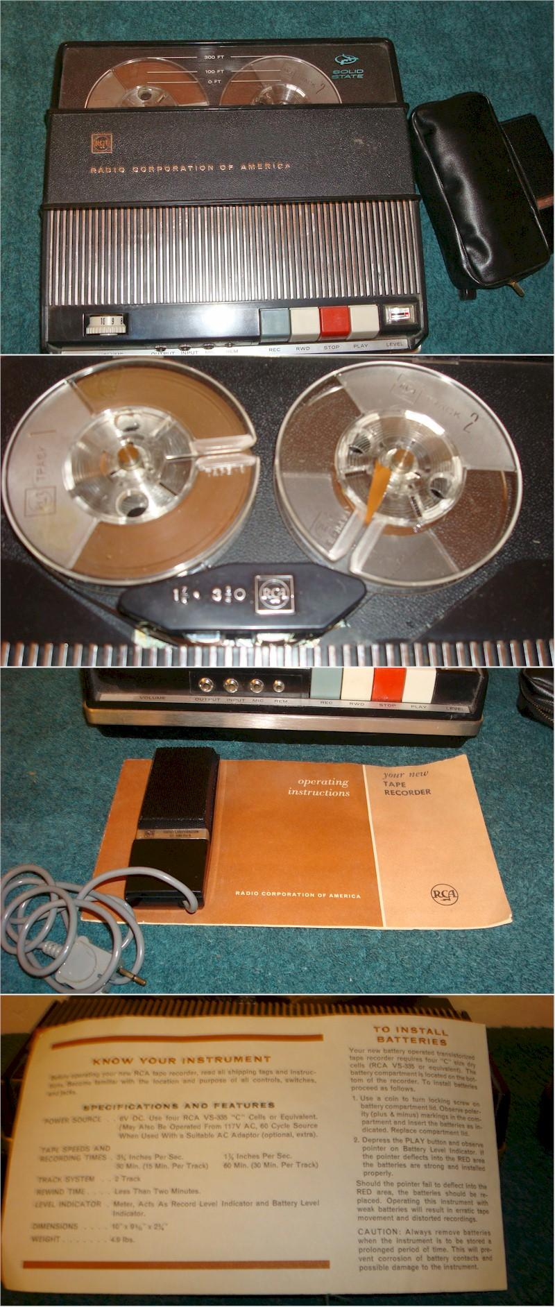 RCA Portable Reel to Reel Recorder (1960s)